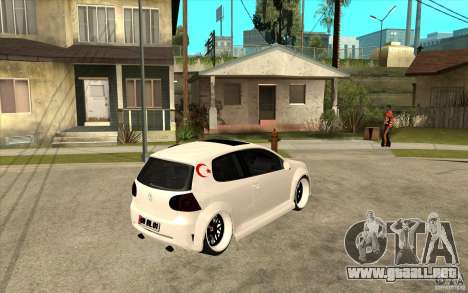 VW Golf 5 GTI Tuning para la visión correcta GTA San Andreas