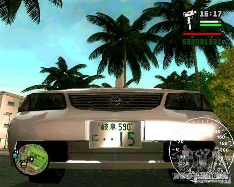 Nissan Sunny para la visión correcta GTA San Andreas