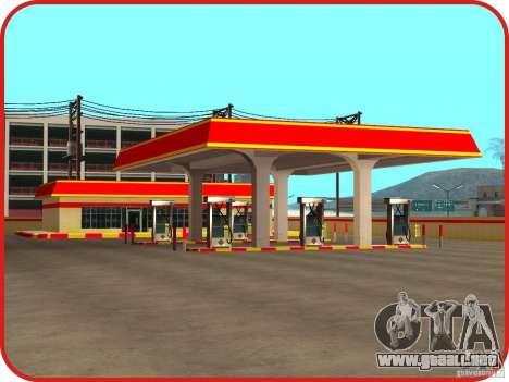 Nueva estación de servicio Shell para GTA San Andreas tercera pantalla
