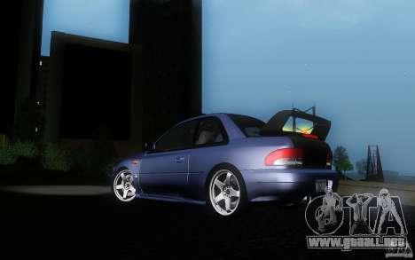 Subaru Impreza 22B para visión interna GTA San Andreas