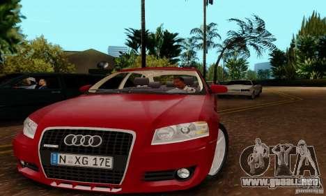 Audi A3 Sportback 3.2 Quattro para GTA San Andreas vista posterior izquierda