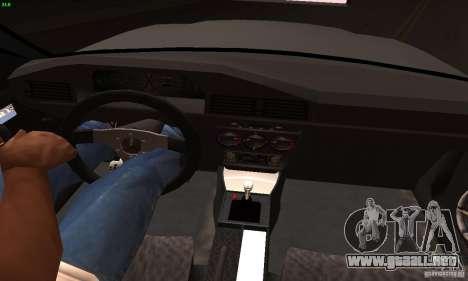 Mercedes-Benz 190E V2.0 para la visión correcta GTA San Andreas