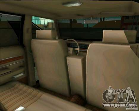 Ford Crown Victora LTD 1985 para GTA Vice City vista interior