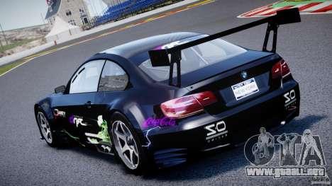 BMW M3 GT2 Drift Style para GTA 4 vista superior