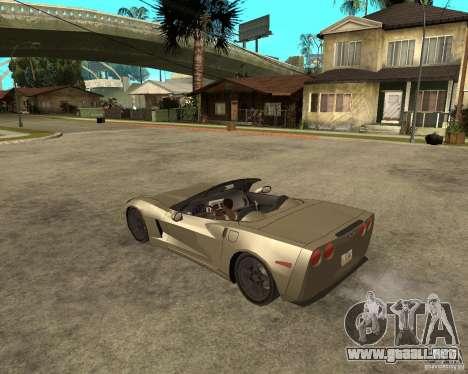 2005 Chevy Corvette C6 para GTA San Andreas left