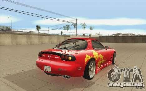 Mazda RX-7 - FnF2 para vista lateral GTA San Andreas