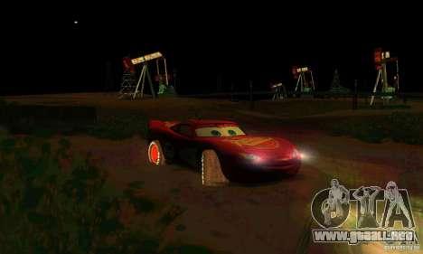 MCQUEEN from Cars para vista inferior GTA San Andreas