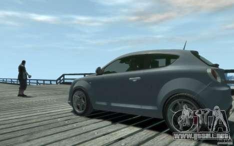 Alfa Romeo Mito para GTA 4 Vista posterior izquierda