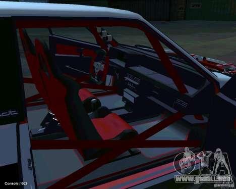 VAZ 2108 Drag para visión interna GTA San Andreas