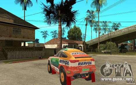 Mitsubishi Racing Lancer para GTA San Andreas vista posterior izquierda