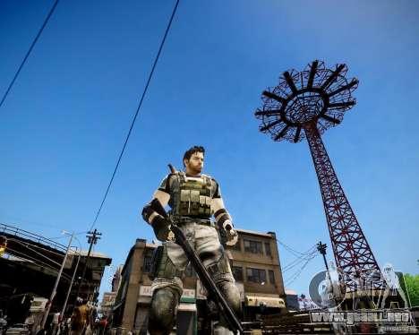 Chris from Resident Evil 5 para GTA 4 tercera pantalla