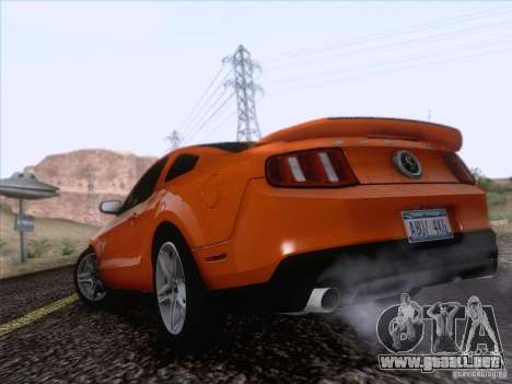 Ford Shelby Mustang GT500 2010 para GTA San Andreas left