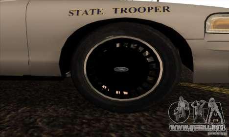 Ford Crown Alabama Police para la visión correcta GTA San Andreas