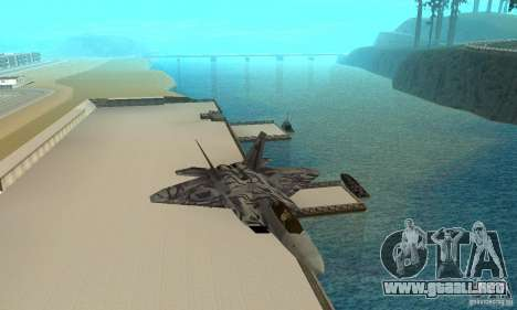 F-22 Starscream para vista lateral GTA San Andreas