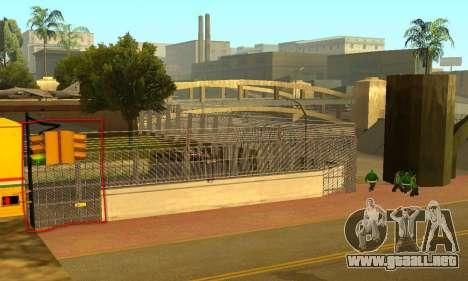 La cerca alrededor del surco Sreet para GTA San Andreas tercera pantalla