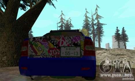LADA 2170 JDM para GTA San Andreas vista hacia atrás