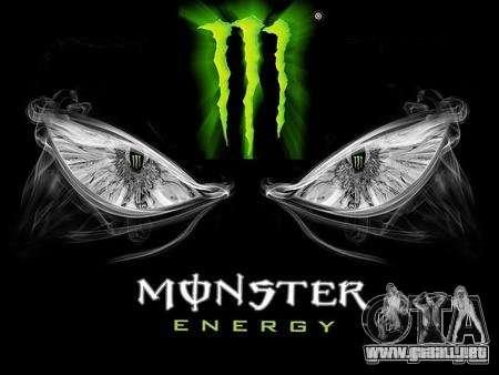 Pantalla de arranque de Monster Energy para GTA San Andreas segunda pantalla