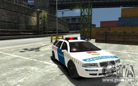 Skoda Octavia Kombi 2005 Hungarian Police para GTA 4 vista hacia atrás