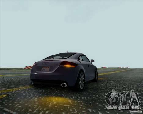 Audi TT para GTA San Andreas vista hacia atrás