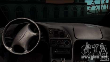 Mitsubishi Eclipse GSX 1999 para GTA San Andreas vista hacia atrás