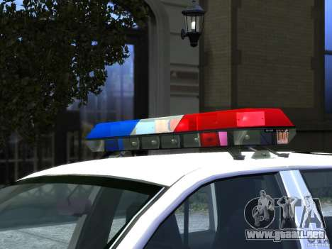 Ford Crown Victoria LAPD v1.1 [ELS] para GTA 4 vista interior