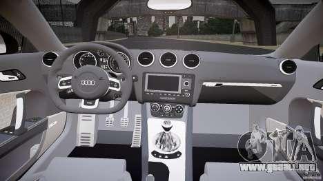 Audi TT RS v3.0 2010 para GTA 4 vista hacia atrás