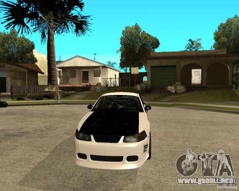 2003 Ford Mustang GT Street Drag para GTA San Andreas vista hacia atrás