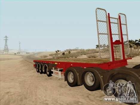 Remolque MAN TGX 8 x 4 para GTA San Andreas left