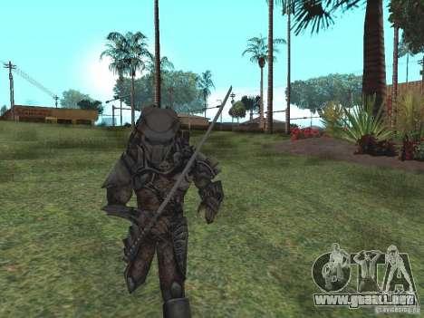 Predator para GTA San Andreas segunda pantalla