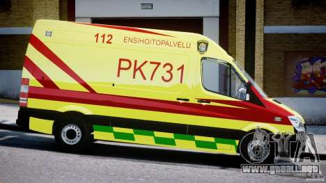 Mercedes-Benz Sprinter PK731 Ambulance [ELS] para GTA 4 vista interior