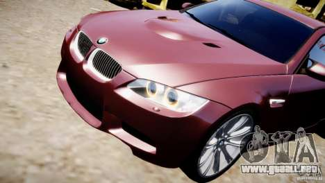 BMW M3 E92 para GTA 4 vista lateral