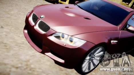 BMW M3 E92 para GTA 4 vista lateral