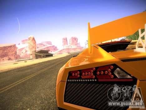 Lamborghini Reventon para GTA San Andreas vista hacia atrás