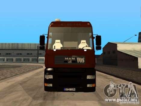 MAN TGA Vos Logistics para GTA San Andreas left