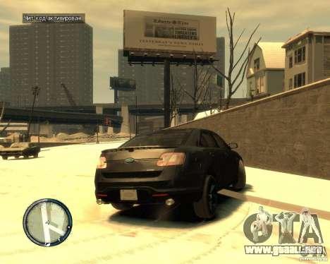 Ford Taurus Police Interceptor Stealth para GTA 4 Vista posterior izquierda