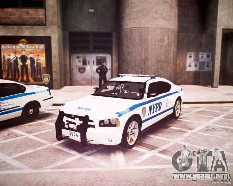 Dodge Charger 2010 NYPD ELS para GTA 4 left