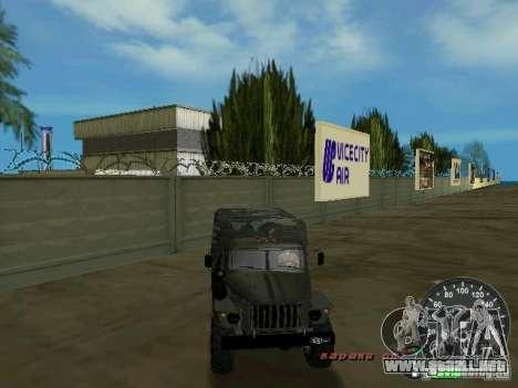 Ural 4320 Military para GTA Vice City vista superior