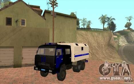 Policía Kamaz para GTA San Andreas left