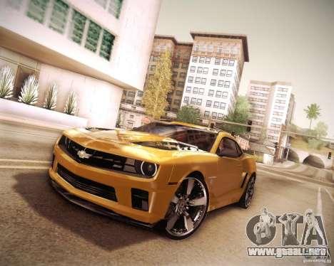 Chevrolet Camaro 2SS 2012 Bumblebee v.2.0 para visión interna GTA San Andreas