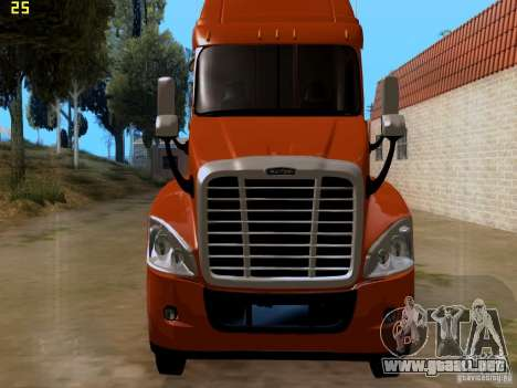 Freightliner Cascadia para GTA San Andreas vista hacia atrás