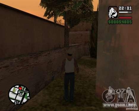 CJ Gopnik para GTA San Andreas tercera pantalla