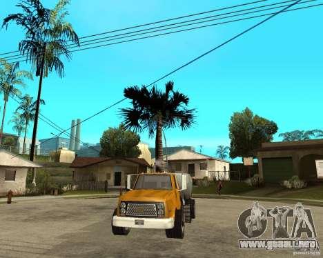 Camión de limpieza para GTA San Andreas vista hacia atrás