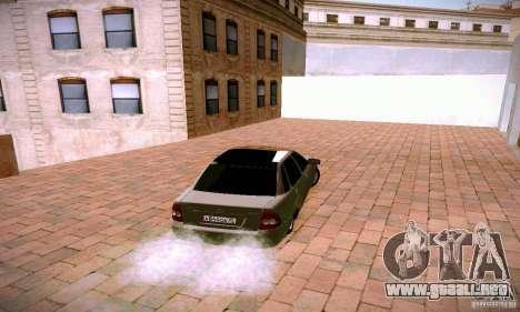 VAZ 2170 Lada Priora para GTA San Andreas vista posterior izquierda