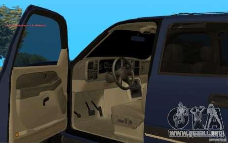 Chevrolet Suburban 2006 para la visión correcta GTA San Andreas