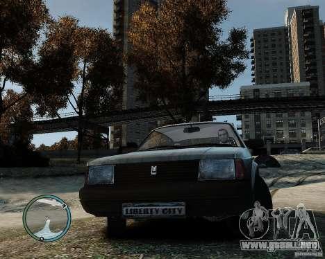 AZLK Moskvich 2141 para GTA 4 Vista posterior izquierda