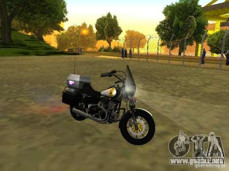 Harley Davidson Dyna Defender para GTA San Andreas left