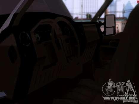 Ford F350 Super Dute para GTA San Andreas vista hacia atrás