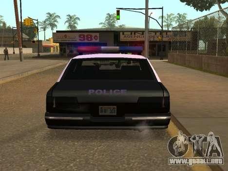 Police Los Santos para GTA San Andreas vista posterior izquierda