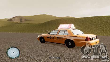 Ford Crown Victoria 2003 NYC Taxi para GTA 4 left