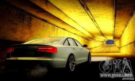Audi A6 2012 para vista inferior GTA San Andreas